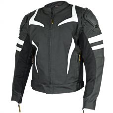Vulcan VTZ-940 Mens Black/White Armored Motorcy...